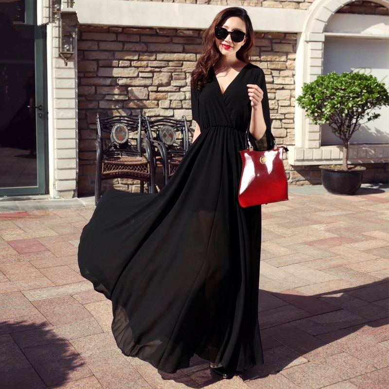 d6005818795b4 韓国ファッション ワンピース ロング丈ワンピース 夏服 スカート Aタイプ マキシワンピース 人気スカート リボン セクシーな ロングスカート ドレス  海辺の休暇 結婚式
